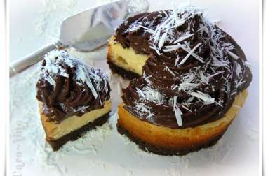 Black and white cheesecake relooké façon cupcake