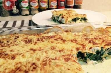 Lasagnes fraîches au saumon et épinards frais