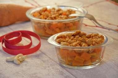 Crumble de patate douce aux noix de cajou