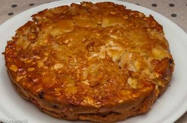 Gâteau aux pommes, raisins et amandes