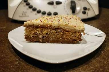 Gâteau chocolat praliné, noisettes, spéculoos