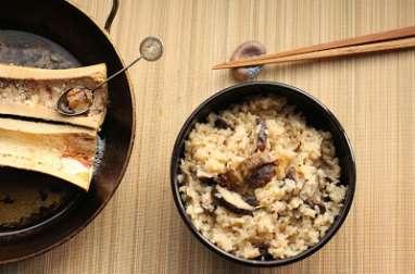 Riz japonais à l'os à moelle