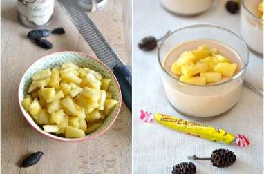 Panna cotta aux carambars et aux pommes