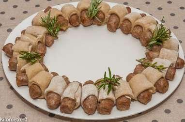 Couronne de Noël aux saucisses