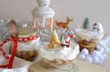 Bûche de Noël revisitée en verrine : poires, cacao et cannelle