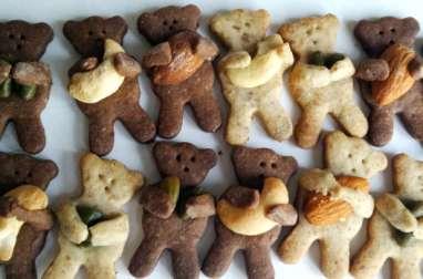Les sablés oursons au praliné