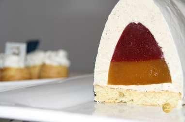 Bûche vanille fraise passion avec Elln