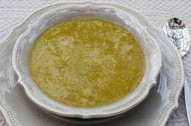 Soupe de poireaux à l'orange