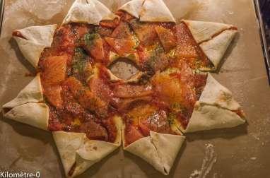 Pizza étoile à la truite fumée