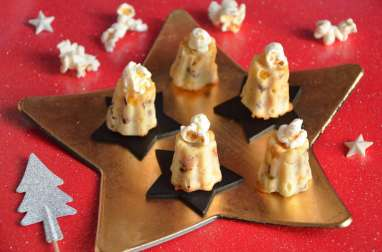 Mini cannelés maïs lard grillé et oignon rouge