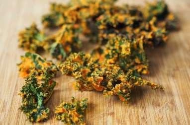 Chips de choux kale au poivron