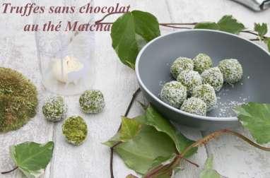 Truffes sans chocolat au thé Matcha