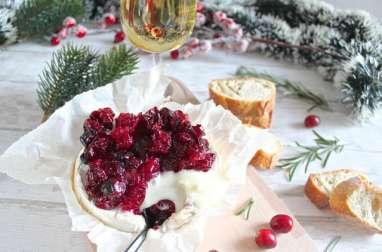 Camembert aux cranberries rôtis au four