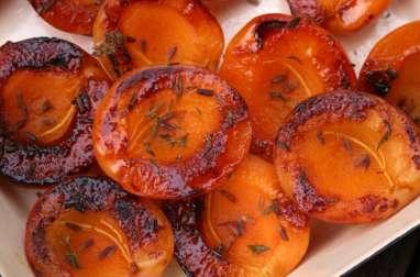 Abricots rôtis, lavande et thym
