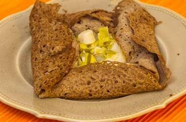 Galettes aux noix de pétoncle et poireaux