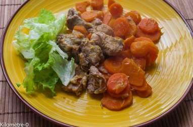 Porc à l'orange, aux épices et aux carottes