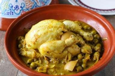 Tajine de poulet aux olives et citron confit