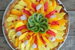 Tarte aux fruits exotiques et lemon curd