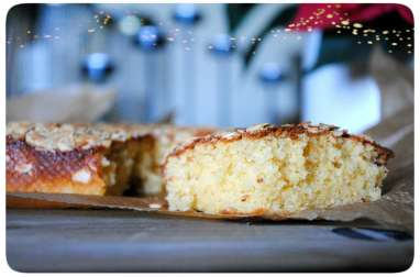 Cake au jaunes d'oeufs, cassonade et fromage blanc