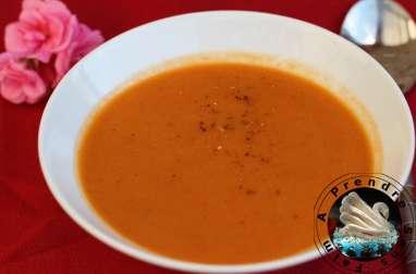 Velouté de poivron rouge pimenté