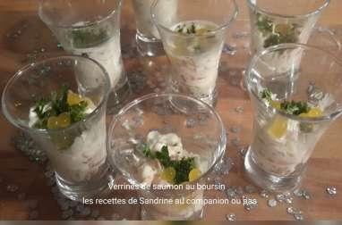Verrines de saumon au boursin et perles de citron