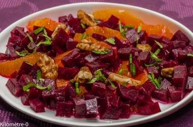 Salade de betteraves, oranges et noix