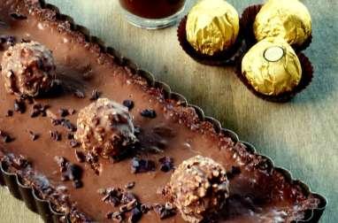 Tarte tout chocolat qui déchire