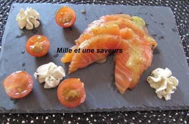 Saumon fumé maison sans fumoir ou saumon Gravlax