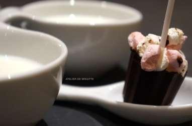 Sucette Chocolat et Chamalow à faire fondre