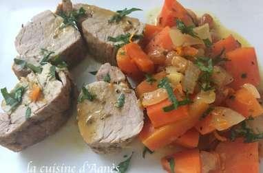 filet mignon de porc braisé à l'orange
