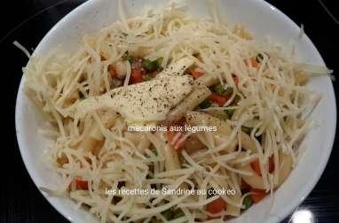 Macaronis aux légumes