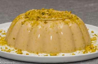 Flan à la pistache et au citron jaune