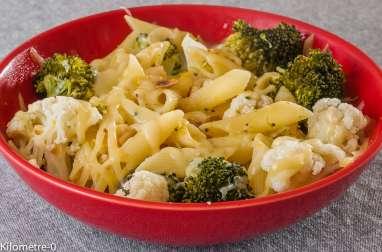 Pâtes aux brocolis et chou fleur