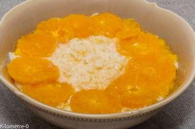 Riz au lait à l'orange