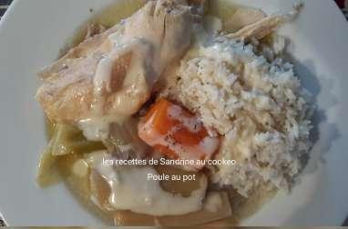 Poule au pot et sa sauce blanche