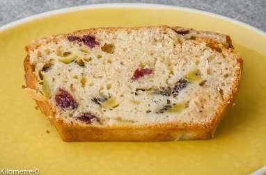 Gâteau du matin aux kiwis et cranberries