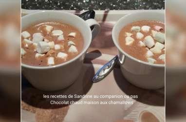 Chocolat chaud maison aux chamallows