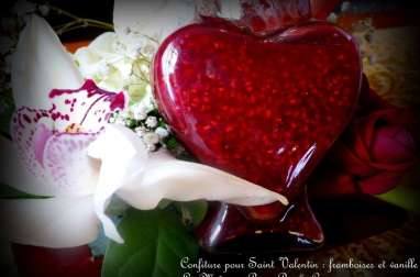 Confiture Saint Valentin framboises et vanille