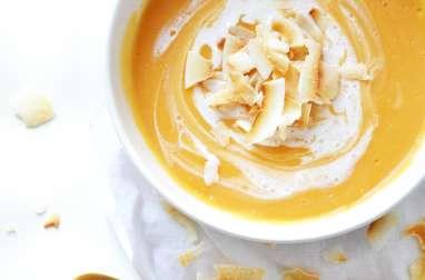 Velouté de patate douce au lait de coco