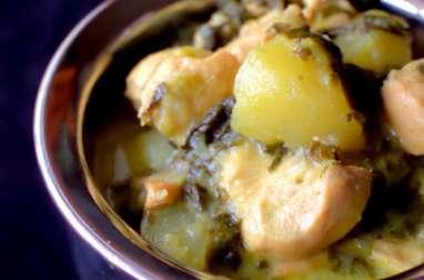 Sauté vert de poulet au curry