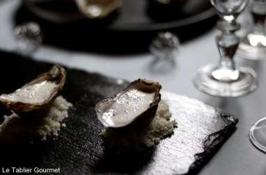 Huîtres à la vanille d'Alexandre Gauthier