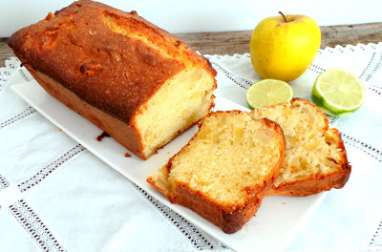 Cake au citron vert et aux pommes