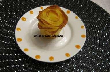 Pommes de terre sous forme de roses