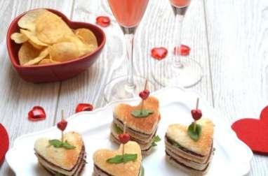 Coeur sandwich pour la Saint Valentin