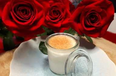 Pana Cotta à la gelée de rose