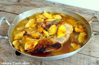 Rouelle de porc au curry et à l'ananas
