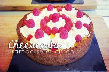 Cheesecake aux framboises et citron comme à New York