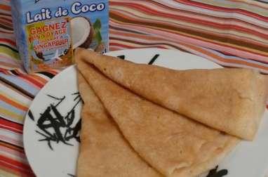 Crêpes au Lait de Coco