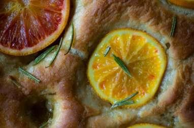 Focaccia sucrée aux oranges sanguines et romarin