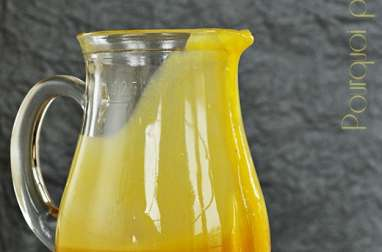 Sauce caramel passion banane